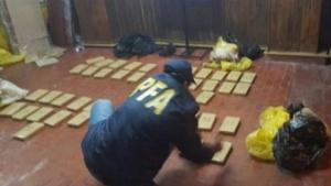 Incautaron 300 Kilos de marihuana en una vivienda del Parque Cadenas