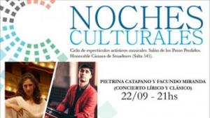 Noches culturales del Senado con música clásica y lírica