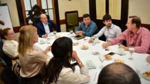 """Canteros con representantes de la Unión Industrial """"La alianza entre lo público y lo privado es la llave para crecer"""""""