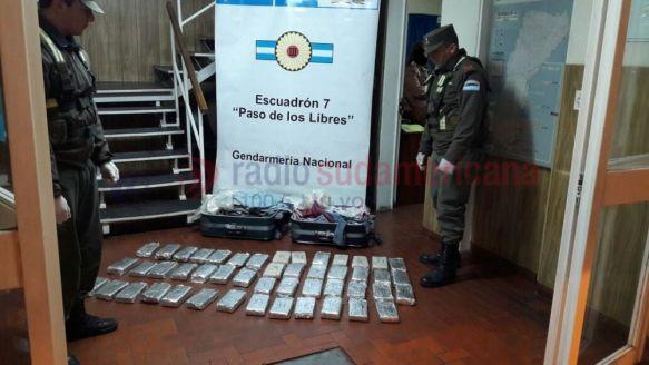 Detienen a una pasajera que llevaba 33 Kilos de droga