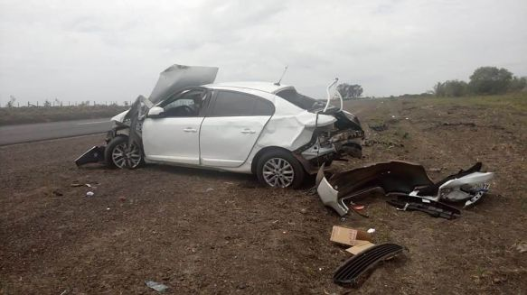 Policía femenina despistó con su vehículo y sufrió lesiones graves