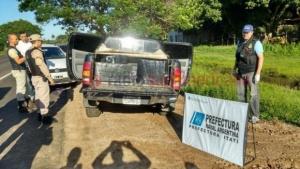 Decomisaron 800 Kilos de droga ocultos en una camioneta
