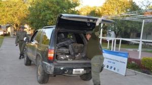 Incautaron casi 500 kilos de droga ocultos en una camioneta