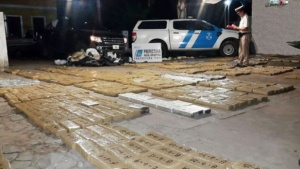 Tras persecución efectivos lograron incautar 150 Kilos de marihuana