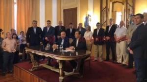 El gobernador electo Gustavo Valdés presentó su gabinete