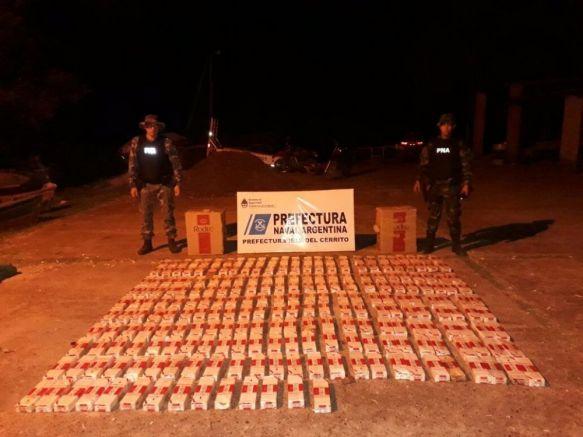 Prefectura incautó cargamento de cigarrillos en Isla del Cerrito