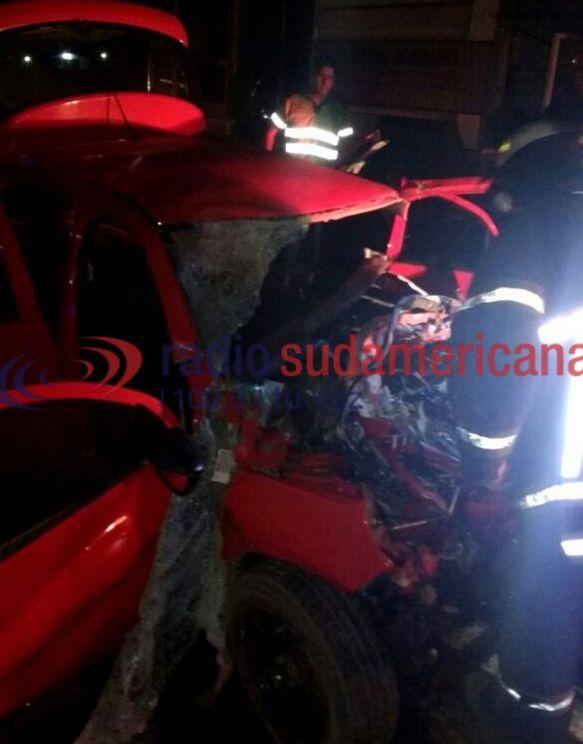 Ruta Nacional 12: Chocó contra una camioneta y se salvó de milagro