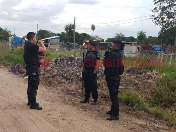 Amplio despliegue policial para el desalojo de un predio ocupado