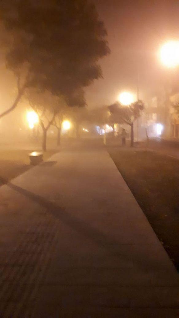 La intensa niebla y el frío invadieron la mañana del viernes