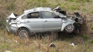 Joven de 28 años murió tras despiste y vuelco de su automóvil
