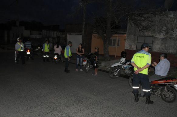 Amplio operativo de seguridad vial en el Barrio San Gerónimo