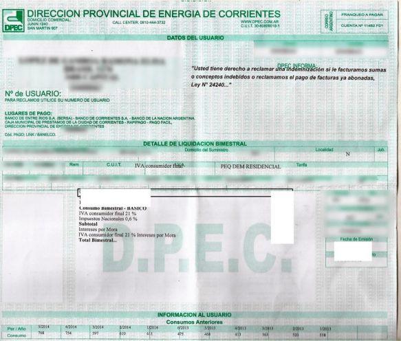 """Diputados solicitaron a la Dpec """"refacturación"""" de las boletas"""