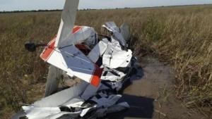 Chaco: cayó avioneta fumigadora y el piloto murió en el acto